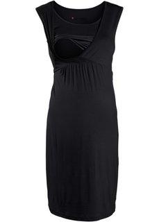 Для будущих мам: трикотажное платье с функцией кормления (черный) Bonprix