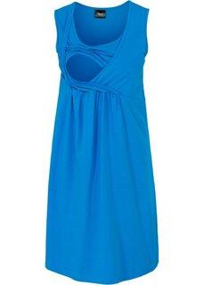 Для будущих мам: трикотажное платье с функцией кормления (морская синь) Bonprix