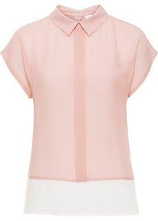 Блузка (дымчато-розовый/белый с узором) Bonprix