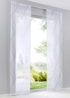 Японская штора Рик (1 шт.), Шина с лентой велкро (белый/серый) Bonprix
