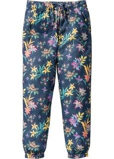Непринужденные брюки с принтом (белый с рисунком) Bonprix