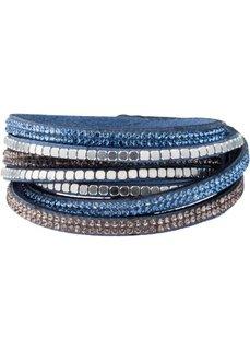 Блестящий браслет для обертывания вокруг запястья с заклепками (синий) Bonprix