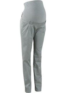 Прямые брюки для беременных, со складками у пояса (нейтрально-серый) Bonprix