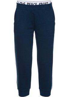 Трикотажные брюки 3/4 без застежки (темно-синий) Bonprix