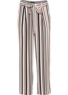 Широкие брюки длины 7/8 (розовый/черный/цвет белой шерсти в полоску) Bonprix
