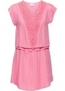 Удлиненная туника (ярко-розовый) Bonprix
