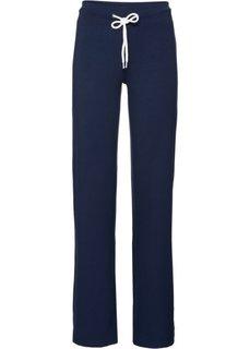 Трикотажные брюки-палаццо (темно-синий) Bonprix