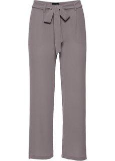 Широкие брюки длины 7/8 (розовато-серый) Bonprix