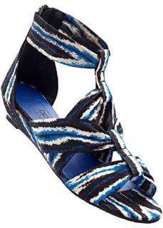 Сандалии (джинсовый синий/ бежевый) Bonprix