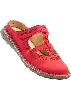 Кожаные пантолеты (красный) Bonprix