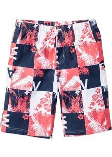 Пляжные бермуды Regular Fit (белый/красный) Bonprix