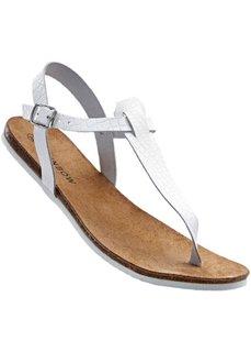 Кожаные сандалии (белый) Bonprix