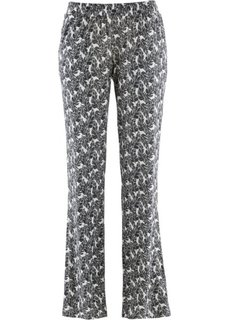 Трикотажные брюки (белый с рисунком) Bonprix
