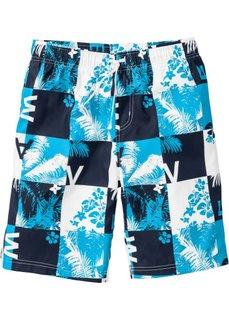 Пляжные бермуды Regular Fit (белый/бирюзовый) Bonprix
