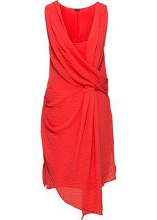 Платье с эффектом запаха (ржаво-оранжевый) Bonprix