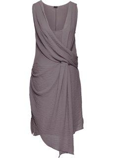Платье с эффектом запаха (розовато-серый) Bonprix