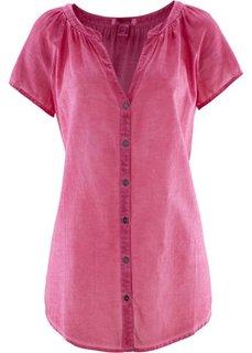 Блузка с коротким рукавом (ярко-розовый) Bonprix