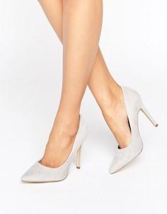 Туфли-лодочки в замшевом стиле New Look - Серый