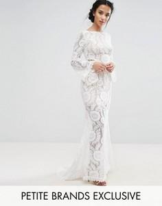 Кружевное платье макси с вырезом на спине Jarlo Petite - Белый