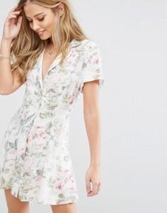 Чайное платье с цветочным принтом Majorelle - Мульти