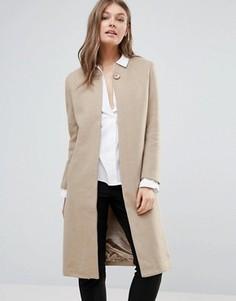 Длинное пальто Goldie - Бежевый