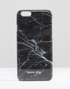 Черный чехол для iPhone 6/6s с мраморным принтом Happy Plugs - Черный