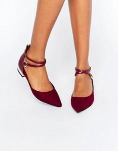 Туфли на плоской подошве с ремешком в области щиколотки ALDO Biacci - Красный
