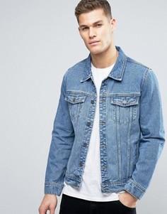 Выбеленная джинсовая куртка Hoxton Denim - Синий
