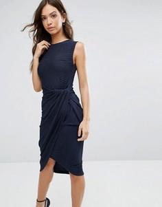 Асимметричное платье без рукавов Wal G - Темно-синий