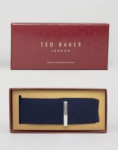 Подарочный набор с галстуком и зажимом для галстука Ted Baker - Синий