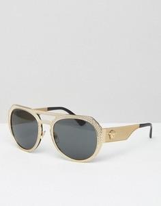 Солнцезащитные очки-авиаторы Versace - Золотой