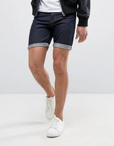 Темные джинсовые шорты Solid - Синий