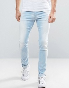 Светлые выбеленные джинсы скинни Replay Jondrill - Синий