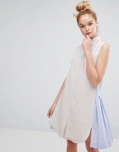 Платье с вышивкой ришелье и полосками на спине Sonia By Sonia Rykiel - Мульти