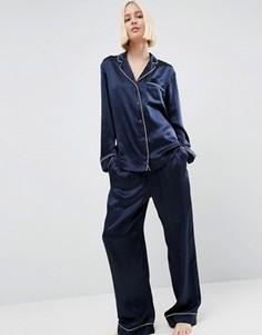 Пижама из 100% шелка ASOS WHITE - Темно-синий