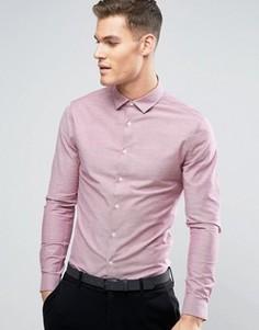 Розовая оксфордская рубашка скинни ASOS - Красный