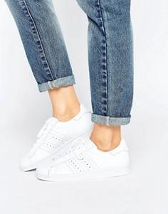 Кроссовки в стиле 80-х adidas Superstar Premium - Белый