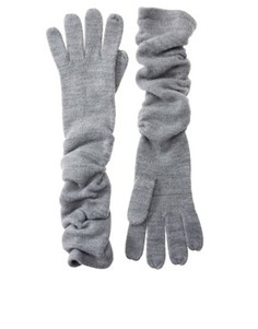 Мягкие длинные перчатки ASOS - Серый