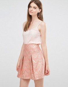 Юбка с жаккардовым принтом Lashes Of London - Розовый