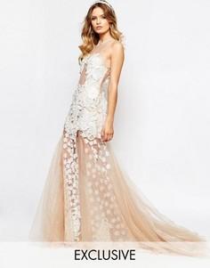 Свадебное платье макси с аппликацией и пышной юбкой A Star Is Born - Розовый