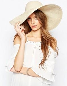 Соломенная шляпа со вставками кроше ASOS - Коричневый