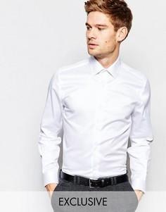 Рубашка скинни с заостренным воротником Number Eight Savile Row - Белый