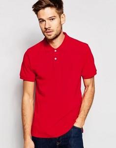 Узкая футболка-поло из ткани пике с короткими рукавами Esprit - Красный