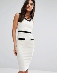 Платье миди с карманами Vesper - Белый