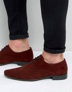 Замшевые бордовые туфли дерби ASOS - Красный