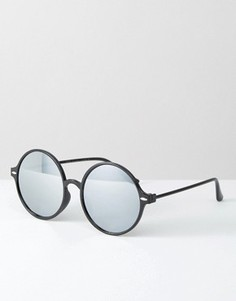 Круглые солнцезащитные очки с зеркальными линзами 7X - Черный
