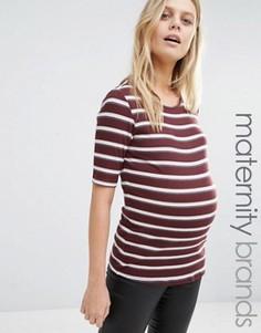 Полосатый топ для беременных в рубчик New Look Maternity - Красный