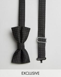 Черный галстук-бабочка в горошек Reclaimed Vintage - Черный