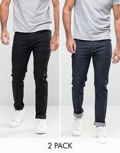 2 джинсов скинни (черные/синие) ASOS - СО СКИДКОЙ - Мульти