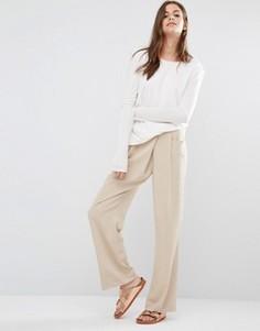 Широкие брюки Vila Laras - Коричневый